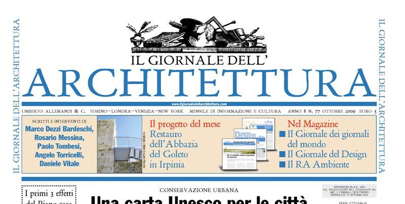 Il giornale dell architettura comunita 39 provvisoria for Giornale architettura